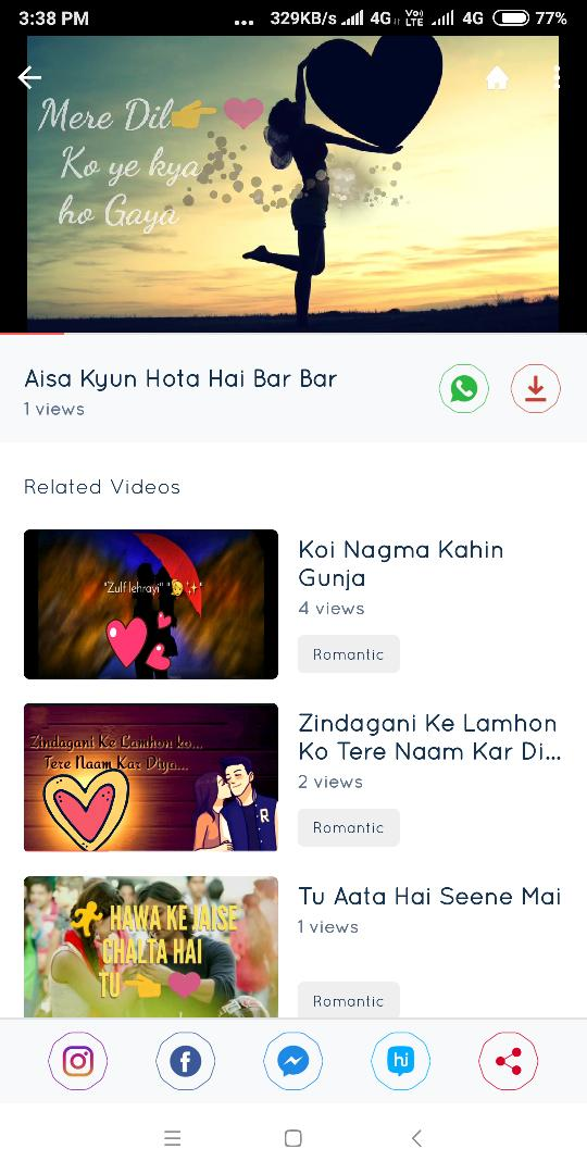 Umeed Video Status - Lyrical Status Videos for Android - APK