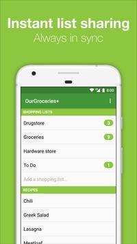 Our Groceries Shopping List screenshot 1