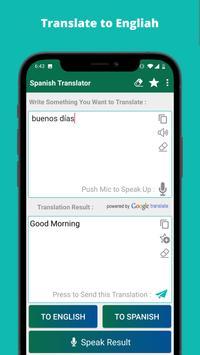 Spanish English Translator capture d'écran 2