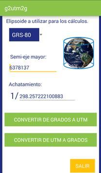 G2UTM2G Herramienta de Conversión Grados <-> UTM poster