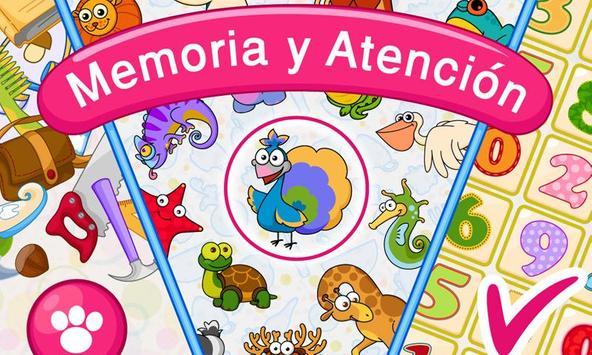Memoria: para niños 4-7 gratis Poster