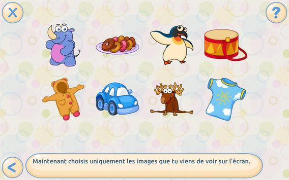 Mémoire pour enfants Gratuit capture d'écran 17
