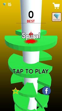 Helix Crush Spiral - ball games for kids poster