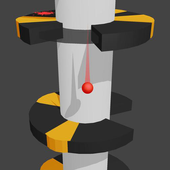 Helix spiral jump tower fall icon