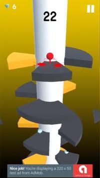 Helix spiral jump tower fall poster