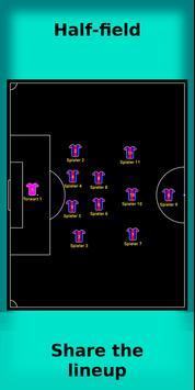 football lineup graphics program soccer - First 11 poster