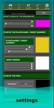 football lineup graphics program soccer - First 11 screenshot 7
