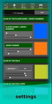 football lineup graphics program soccer - First 11 screenshot 8