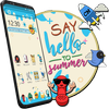 Hi ! ! ! Summer Launcher Theme icono
