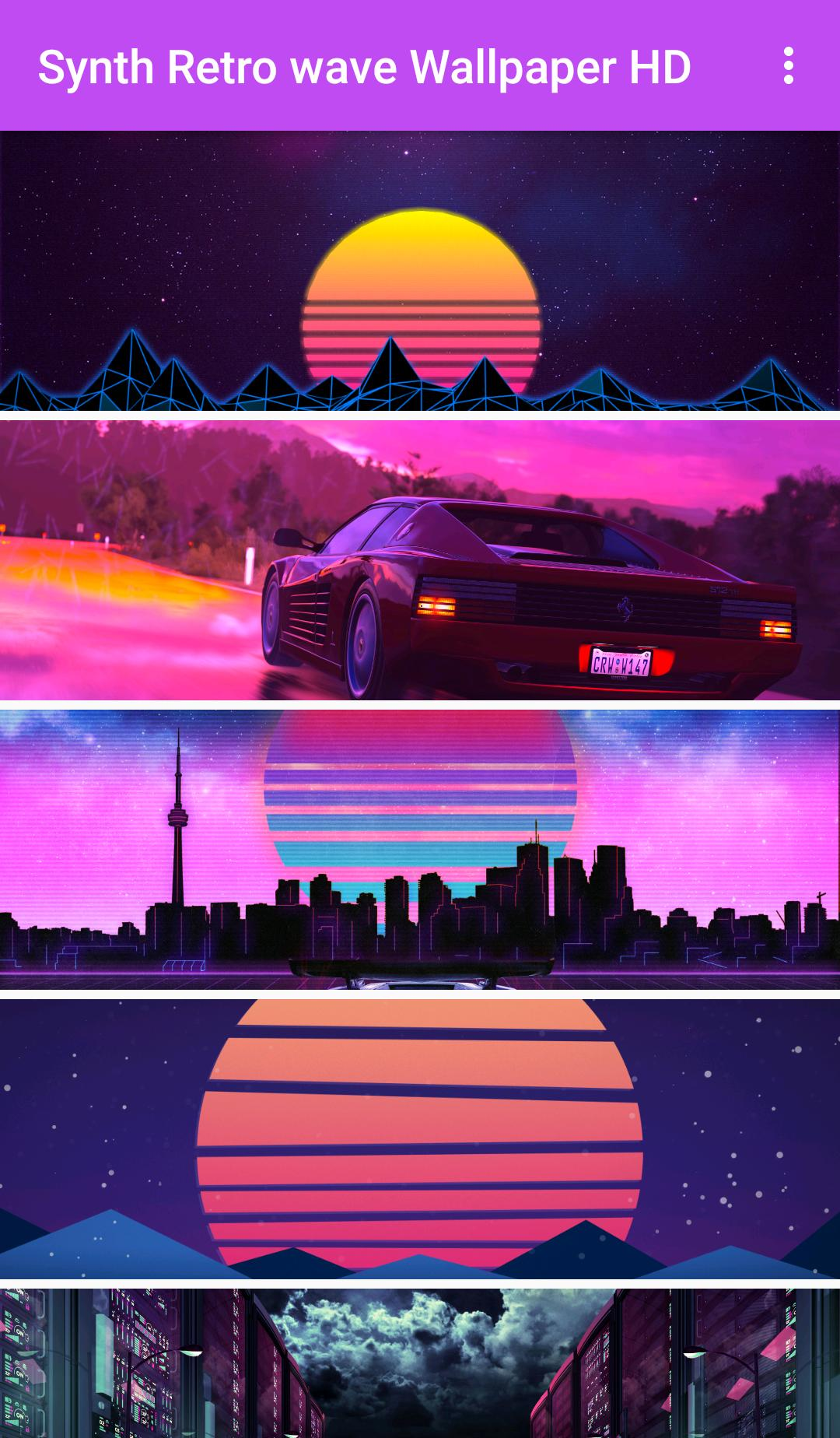 Synth Retrowave Wallpaper HD for Android - APK Download