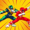 ikon Pahlawan Dino Pertempuran Ninja Ranger Baja Retro