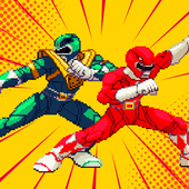 Hero Dino Battle Ninja Ranger Steel Samurai Retro-icoon