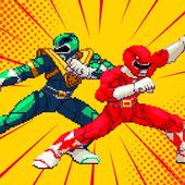 Kahraman Dino Savaşı Ninja Ranger Çelik Retro simgesi
