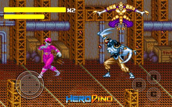 Kahraman Dino Savaşı Ninja Ranger Çelik Retro Ekran Görüntüsü 4
