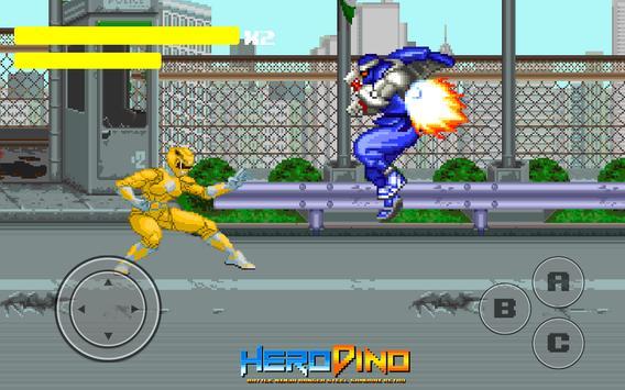 Kahraman Dino Savaşı Ninja Ranger Çelik Retro Ekran Görüntüsü 1