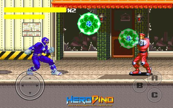 Kahraman Dino Savaşı Ninja Ranger Çelik Retro Ekran Görüntüsü 2