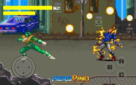 Kahraman Dino Savaşı Ninja Ranger Çelik Retro Ekran Görüntüsü 3