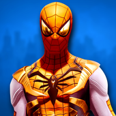ikon Pahlawan Spider Ninja Cyber Robot Pertempuran