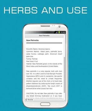 Herbs and Use OFFLINE screenshot 1
