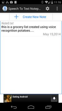 Speech To Text Notepad screenshot 4