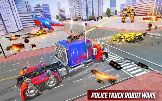 Police Truck Robot Game – Dino Robot Car Games 3d screenshot 16