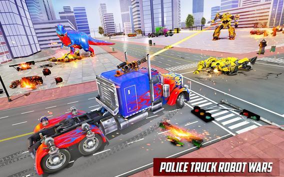 Police Truck Robot Game – Dino Robot Car Games 3d screenshot 4