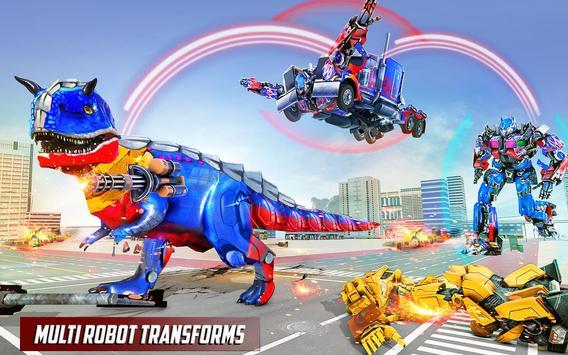 Police Truck Robot Game – Dino Robot Car Games 3d screenshot 2