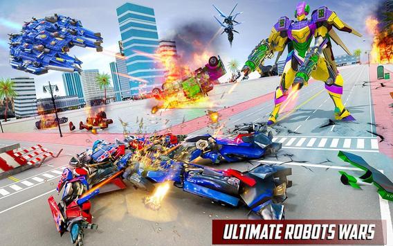 Police Truck Robot Game – Dino Robot Car Games 3d screenshot 3