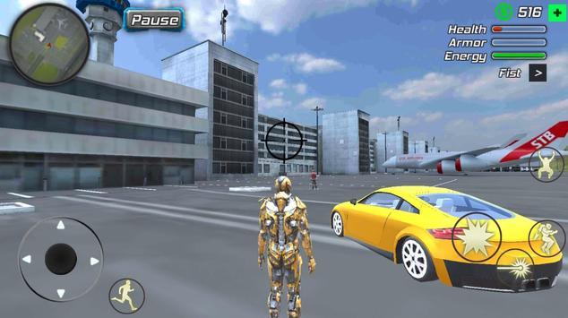 Super Crime Steel War Hero Iron Flying Mech Robot screenshot 3