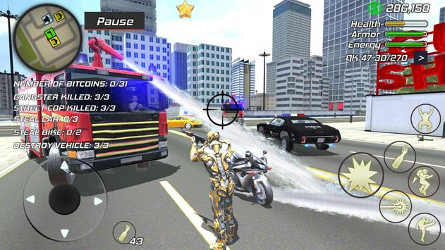 14 Schermata Super Crime Steel War Hero Iron Flying Mech Robot