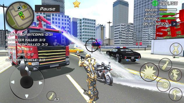 21 Schermata Super Crime Steel War Hero Iron Flying Mech Robot