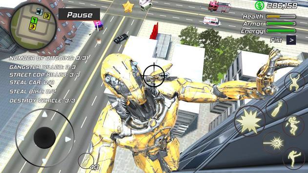 4 Schermata Super Crime Steel War Hero Iron Flying Mech Robot