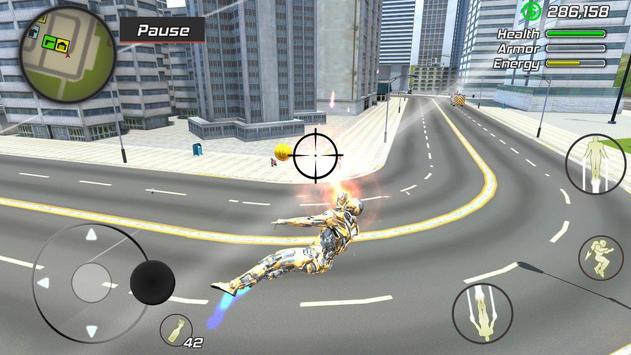 5 Schermata Super Crime Steel War Hero Iron Flying Mech Robot