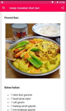 Resep Masakan Ikan Laut screenshot 3