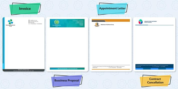 Business LetterHead Maker – Letter Writing Designs screenshot 1