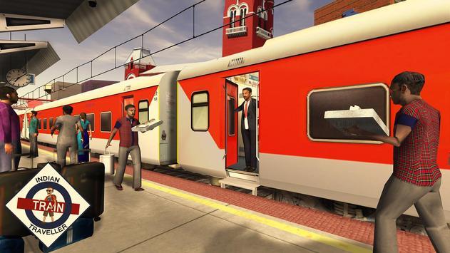 القطار الهندي المسافر الملصق