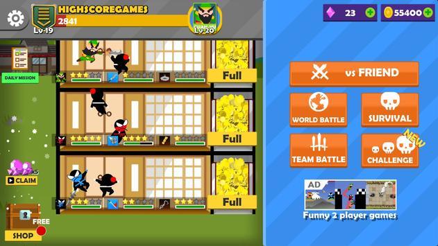 17 Schermata Jumping Ninja Battle - Two Player battle Action