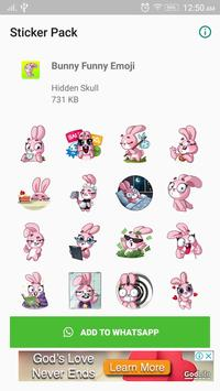 Bunny Funny Sticker for WhatsApp poster