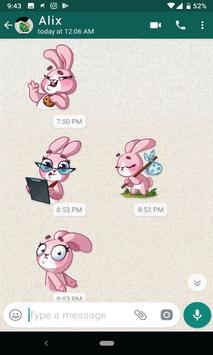 Bunny Funny Sticker for WhatsApp screenshot 1