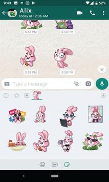Bunny Funny Sticker for WhatsApp screenshot 2