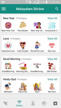 Malayalam Sticker - WAStickerApps screenshot 3