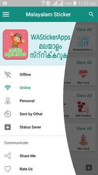 Malayalam Sticker - WAStickerApps screenshot 4