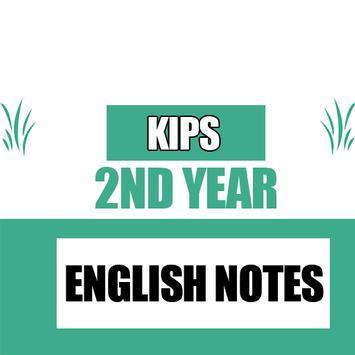 KIPS 2nd Year English Notes poster
