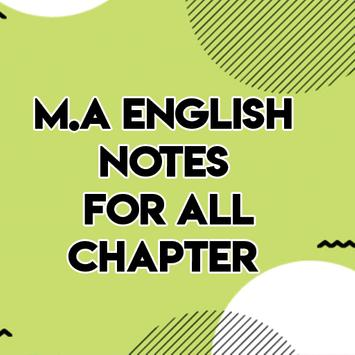 MA English Notes For All Chapter poster