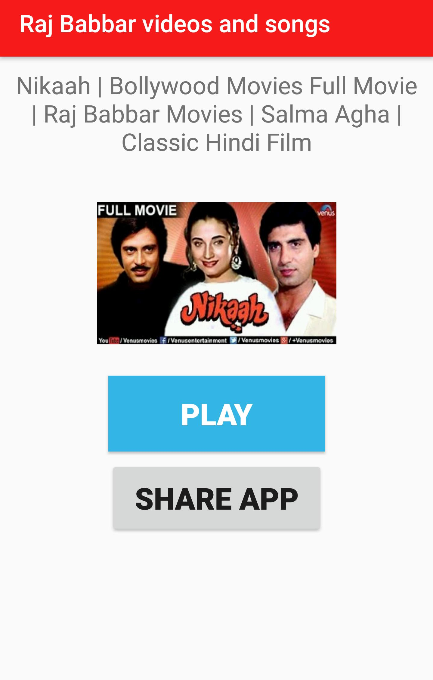 Raj Babbar Movies Videos Songs For Android Apk Download