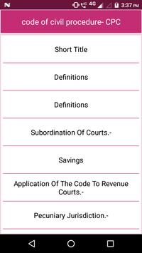 code of civil procedure- CPC poster