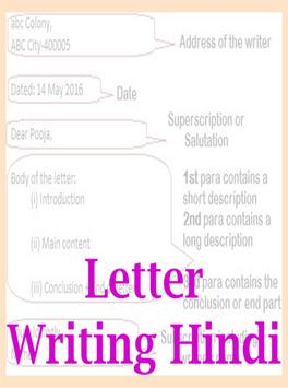 Letter writing hindi-पत्र लेखन poster