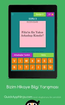 Bizim Hikaye Bilgi Yarışması screenshot 9