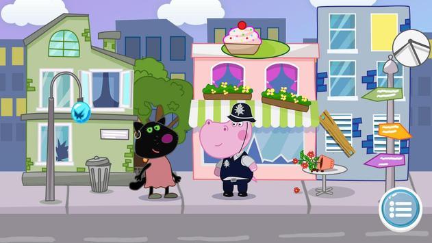 Kids Policeman games: Hippo Detective screenshot 1