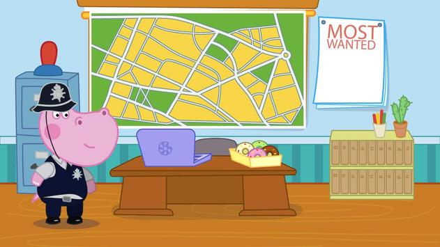 Kids Policeman games: Hippo Detective screenshot 2